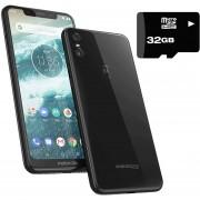 Celular Motorola One 32GB 3GB Dual Sim + Micro SD 32GB - Negro