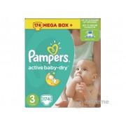 Pampers Active Baby Dry 3 pelene Mega Box Plus (174 kom)