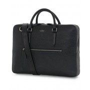 Smythson Ludlow Briefcase with Zip Front Black