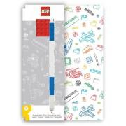 Bullyland LEGO® Notizbuch Rot mit einem Gel-Pen blau