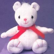 Tender Tails White Bear with Red Ribbon by Enesce Precious Moments