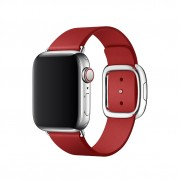 Modern Genuine Leather Watch Band Accessory with Magnetic Buckle for Apple Watch Series 4 40mm / Series 3 2 1 38mm - Red