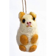 De Kulture™ Hand Made Showpiece Hanging Felt Mouse Toy Soft Plush Toy 4x2x1.7 (LWH) for Home Decoration Party Decorative Office Decor Ideal for New Year Birthday Christmas Decoration Easter Gift
