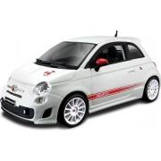 Modelauto Fiat 500 Abarth wit 1:24 - speelgoed auto schaalmodel