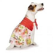 Casual Canine Hawaiian Breeze Sundress, Small/Medium, Coral