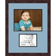 ArtToFrames Art to Frames Double-Multimat-254-716/89-FRBW26061 Collage Frame Photo Mat Double Mat with 1 8.5x11 and 1 5x7 Openings and Espresso frame