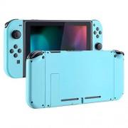 eXtremeRate Carcasa para Nintendo Switch Funda Completa del Mando y la Consola Trasera de NS Joy-con Shell de Bricolaje reemplazable esmerilada con Botón Completo para Nintendo Switch (Azul Turquesa)