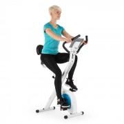 Klarfit X-Bike XBK700 Pro, домашен циклотренажор, ергометър, измерване на пулса, наклон (FIT4-XBike700Pro w/b)