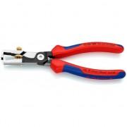 Клещи за сваляне на изолацията с ножица за кабели KNIPEX StriX, черни 180 mm, 13 62 180 SB, KNIPEX