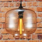Corp de iluminat Pendul, Retro Vintage, Sticla Transparenta Chihlimbar, E27 - VINTAGE 241