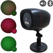 Foco Laser Estaca Lluvia + Parlante Bluetooth