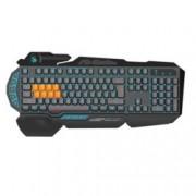 Клавиатура A4Tech Bloody B318 Light Strike, гейминг, механична, високопрофилни клавиши, 9 програмируеми бутона, синя подсветка, кирилизирана, черна, USB
