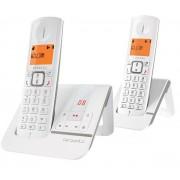 Alcatel Versatis F230 Voice Duo - Téléphone sans fil - système de répondeur avec ID d'appelant - DECT - gris + combiné supplémentaire