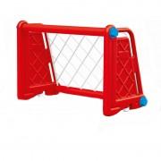 Poarta fotbal pentru copii, usor de asamblat, 53 x 80 x 40 cm, Rosu