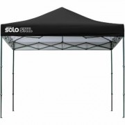 Quik Shade Solo Steel 100 Pop-Up Canopy -10ft.L x 10ft.W, Black, Straight Leg, Model 167555DS
