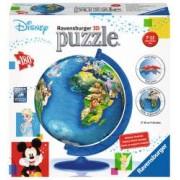 Puzzle 3D Globul Disney 180 Piese.Din plastic numerotate + suport puzzle