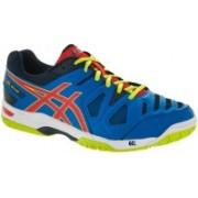 Asics Gel-Game 5 Men Tennis Shoes For Men(Blue, Orange, Yellow)