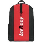 LeeRooy Canvas 25 Ltr Black Formal Bag Backpack For Girls