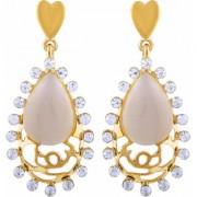 Asmitta Marvellous Heart Shape Dangle Gold Plated Dangle Earring For Women