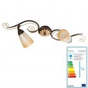 Deckenleuchte MW165, Deckenlampe Wandleuchte Wandlampe, 2-flammig, 12x63x21cm ~ Variantenangebot