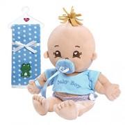 "Adora My First Baby Boy Soft Plush Cuddly Play Doll with Polka Dot Fleece Blanket Bundle, 14"""