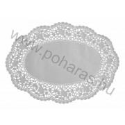 Ovális tortacsipke [18x28cm] (Fehér)