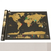 Lepakshi 3 Kind of Deluxe Scratch Off World Map Travel Around The World English Poster Version Foreign Hot Wall Map Paper Classic Map 42