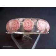 Bratara bijuterie lata cu trandafiri