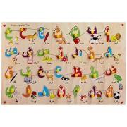 Skillofun Wooden Arabic Alphabet Picture Tray, Multi Color