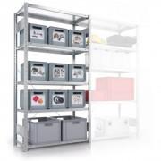 META Regał półkowy clip, 100 kg, 2500x1000x500 mm, podstawowy