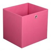 Caixa Organizadora Retangular Grande Rosa 30X32X28 Cm Acasa Móveis