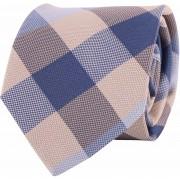 Profuomo Krawatte Blau Kariert - Blau