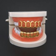 ELECTROPRIME Grills Gold Plated Grills Mouth Grill Hip Hop Rock Prop Vampire Easter