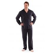 Мъжка пижама Harvey Black Stripe Long