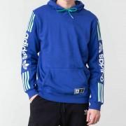 adidas Quarzo Fleece Hoodie Active Blue/ White/ Active Green