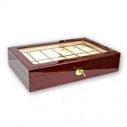 SAFE Förvaringsbox B12 Brunt trä - Box för 12 klockor 4197000