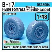 DEF Model 1:48 B-17F/G Flying Fortress Wheel set 2 (for Revell 1/48) #DS48004