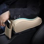 Apoyabrazo Universal De Color Solido Para Automotriz - Beige