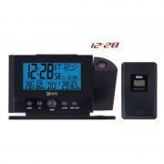 LCD domáca bezdrôtová meteostanica projekčná E0211