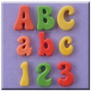 Set 3 Mulaje Alfabet si Cifre Funny, h 2 cm