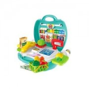 Alcoa Prime Kids Store Pretend Role Play Cash Fruits Vegetable Basket Playing Set Green