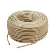 Cablu UTP cat. 5e, 4x2 AWG 26/7, din PVC, solid, lungime rola: 305m, retail, Bej, LOGILINK (CPV0015)