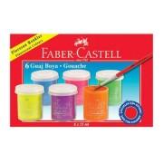 Guase 6 culori/set, FABER CASTELL