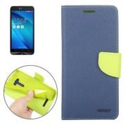 Color Matching Cross Texture Horizontal Flip Leather Case with Holder & Card Slots & Wallet for Asus Zenfone Selfie / ZD551KL(Dark Blue)