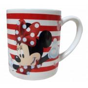 Cana ceramica Minnie Mouse rosu