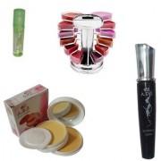 Waterproof Eyeliner Lipgloss Palette Lip Gloss Compact Powder
