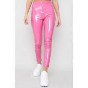 JFR Wet Look Neon Byxor - Babe Pink