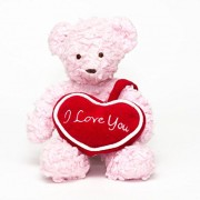 "Bears for Humanity 10"" Pink I Love You Bear"