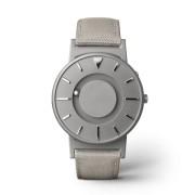 Ceas de mână tactil unisex EONE Bradley cu curea bej de piele acoperită cu textil - DISPONIBIL LA COMANDĂ