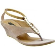 Mega Steps Women Beige Wedges
